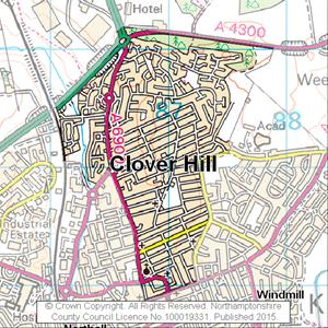 Map of Clover Hill electoral division