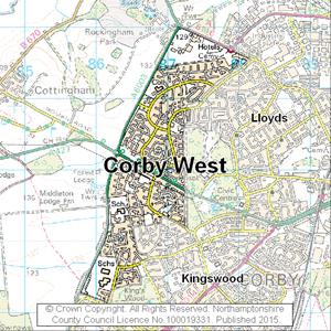 Map of Corby West electoral division