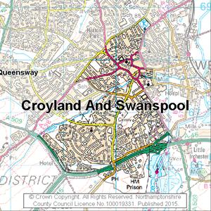 Map of Croyland And Swanspool electoral division
