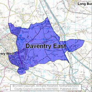 Map of Daventry East electoral division