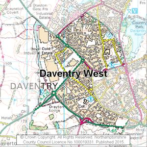 Map of Daventry West electoral division