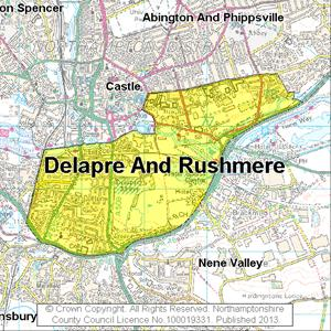 Map of Delapre And Rushmere electoral division