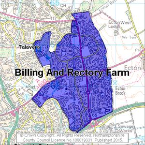 Map of Billing And Rectory Farm electoral division