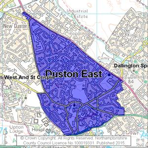 Map of Duston East electoral division