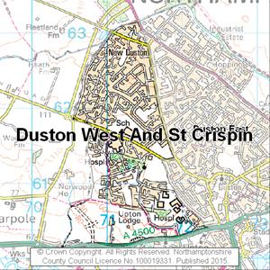 Map of Duston West And St Crispin electoral division