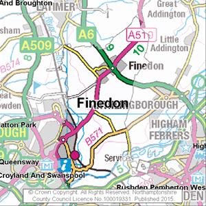 Map of Finedon electoral division