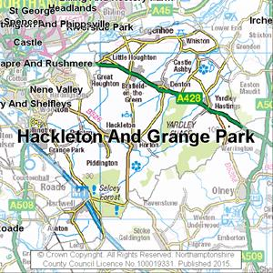 Map of Hackleton And Grange Park electoral division