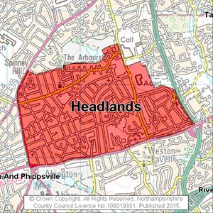 Map of Headlands electoral division