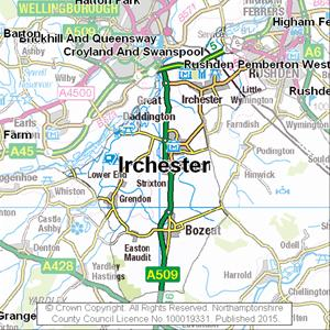 Map of Irchester electoral division