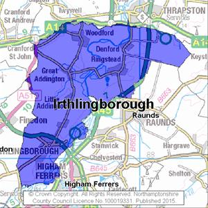 Map of Irthlingborough electoral division