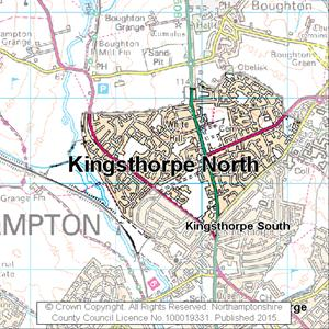 Map of Kingsthorpe North electoral division