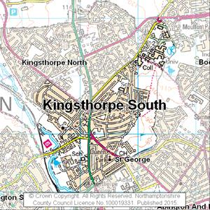 Map of Kingsthorpe South electoral division