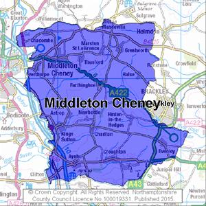 Map of Middleton Cheney electoral division