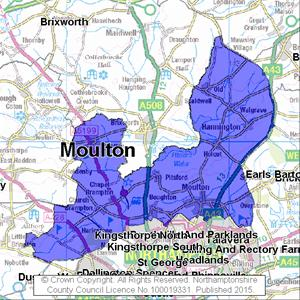 Map of Moulton electoral division