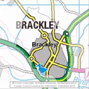 Map of Brackley electoral division