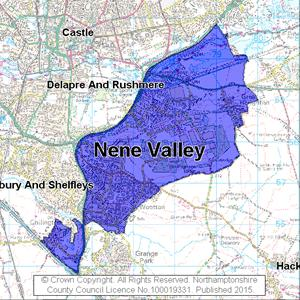 Map of Nene Valley electoral division
