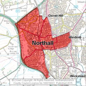 Map of Northall electoral division