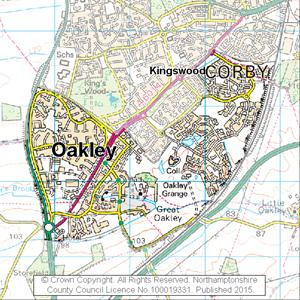 Map of Oakley electoral division