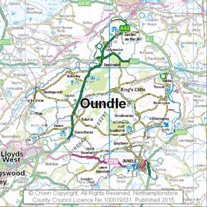 Map of Oundle electoral division