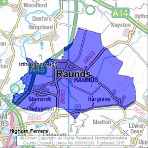 Map of Raunds electoral division