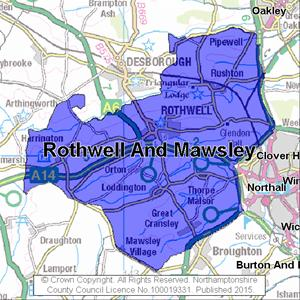 Map of Rothwell And Mawsley electoral division