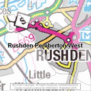 Map of Rushden Pemberton West electoral division