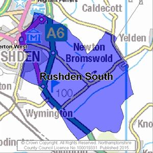 Map of Rushden South electoral division