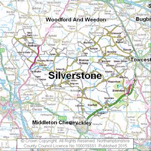 Map of Silverstone electoral division