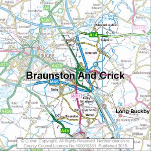 Map of Braunston And Crick electoral division