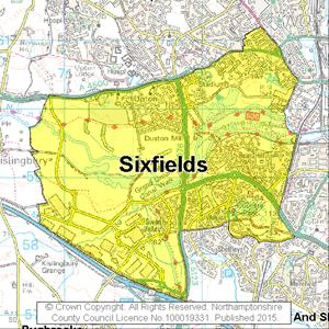 Map of Sixfields electoral division