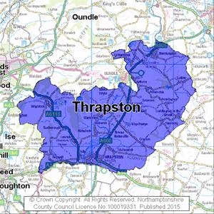 Map of Thrapston electoral division