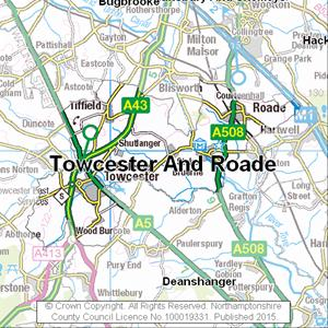 Map of Towcester And Roade electoral division