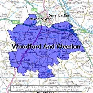 Map of Woodford And Weedon electoral division