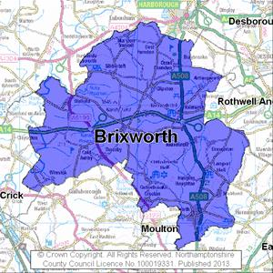 Map of Brixworth electoral division