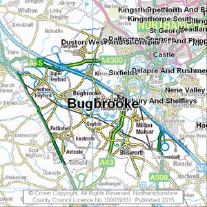Map of Bugbrooke electoral division
