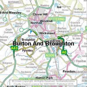 Map of Burton And Broughton electoral division